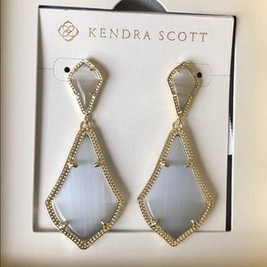 Kendra Scott Alexa Slate Gold Earrings
